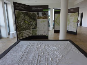 Modell des zukünftigen Stadtgebietes Krampnitz