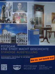 Plakat des Potsdam Museums zur Bewerbung des freien Eintritts in der Dauerausstellung